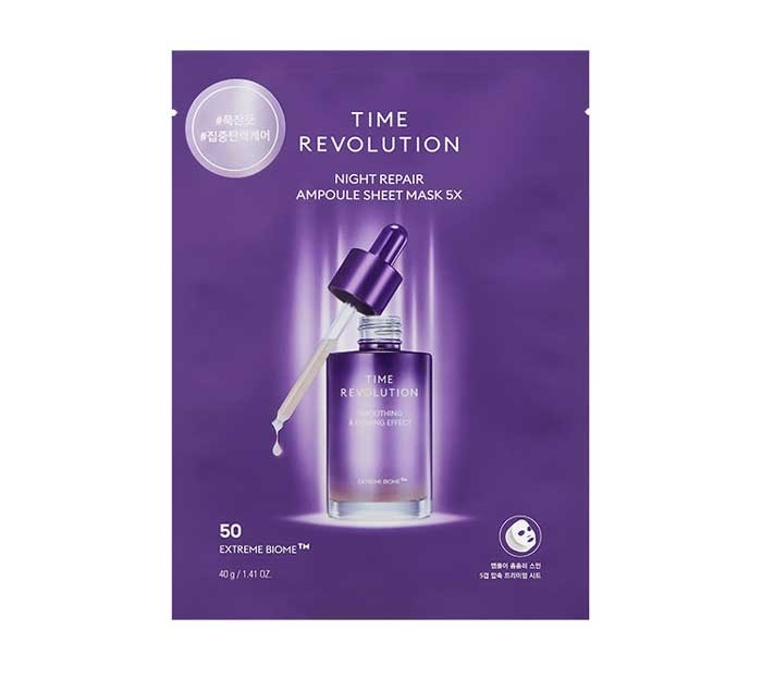TIME REVOLUTION Night Repair Ampoule Sheet Mask 5X